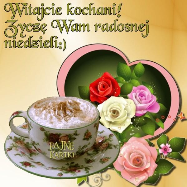 Witajcie kochani! Życzę Wam radosnej niedzieli :)
